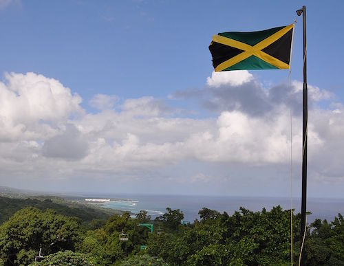 The Jamaican flag (Courtesy of Kyle James via Wikimedia Commons)