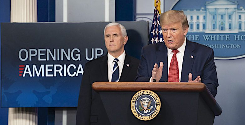 **FILE** President Donald Trump (right) and Vice President Mike Pence (Courtesy of whitehouse.gov)