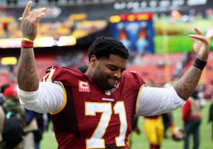 The Washington Redskins traded perennial Pro Bowler Trent Williams for a fifth-round selection in the 2020 draft and a future third-round pick in the 2021 draft. (Daniel Kucin Jr./The Washington Informer)