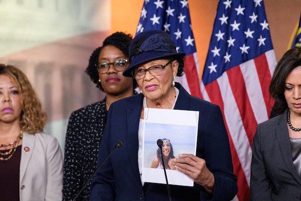 Rep. Alma Adams, Sen. Kamala Harris and members of the Black Maternal Health Caucus push for Congress to adopt the Kira Johnson Act during Black Maternal Health Week on April 11. (Courtesy of Adams' office)