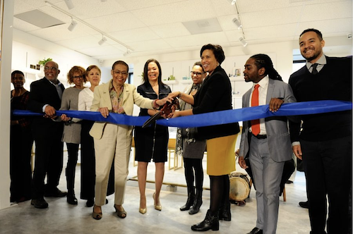 The ribbon-cutting ceremony for Linda Greene's D.C. marijuana dispensary, Anacostia Organics brought our city officials including Mayor Muriel Bowser and Ward 8 D.C Council member Trayon White. (Courtesy photo)