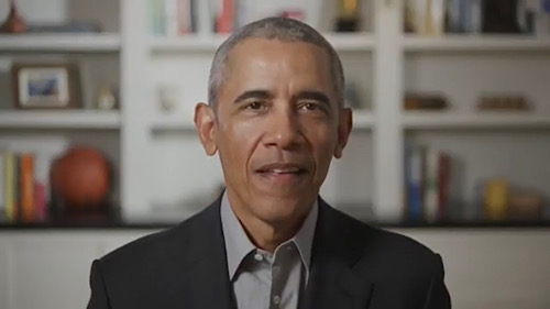 Former President Barack Obama speaks during a virtual ceremony to honor the 2020 graduates from historically Black colleges and universities on May 16.