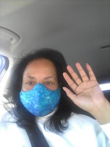 Treva Julio of Atlanta has used this Mother's Day to make mask for other mothers who are first responders amid the coronavirus crisis. (Courtesy photo)