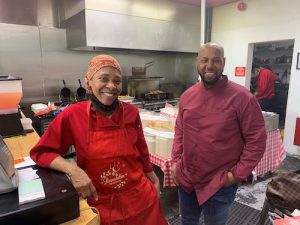 Iman Yahya Muhammad and wife Olonda, owners of Around the Clock Chicken and Fish in Capitol Heights, Maryland (Hamil R. Harris/The Washington Informer)