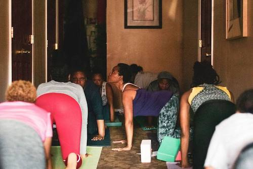 Participants glean the benefits of yoga. (Courtesy of Karen Taylor Bass)