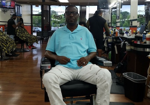 Thomas Robinson, a barber in Greenbelt, Md. (Courtesy of Trice Edney News Wire)