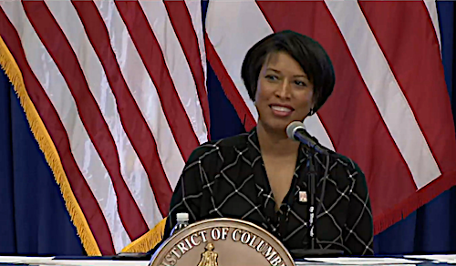 D.C. Mayor Muriel Bowser speaks during a May 27 press conference to announce that the city will enter phase one of its reopening plan amid the coronavirus pandemic.