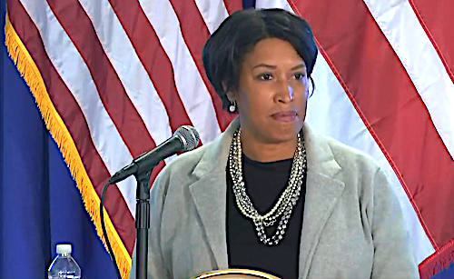 D.C. Mayor Muriel Bowser speaks during a May 8 press conference on the city's response to the coronavirus pandemic.