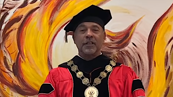 University of the District of Columbia President Ronald Mason speaks during a virtual commencement ceremony for the university's 2020 graduates on May 9.