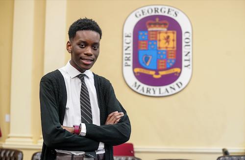 Scholar of the Week Jeremy Kiggundu (PGCPS photo)