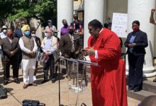 Photo of Faith Leaders Hold Outdoor Prayer Vigil at Historic St. John's Church
