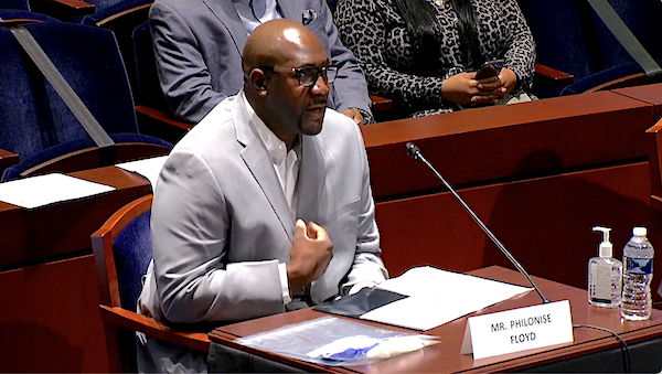 Philonise Floyd, brother of George Floyd, testifies during a Capitol Hill hearing on police brutality and racial profiling on June 10. George Floyd died May 25 while in Minneapolis police custody.