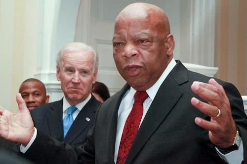 **FILE** Rep. John Lewis with former Vice President Joe Biden at a Black History event during the Obama administration. (Shevry Lassiter/The Washington Informer)