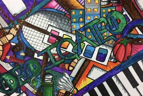 PGCPS' virtual art exhibit showcases student work created over the course of this school year. (PGCPS photo)