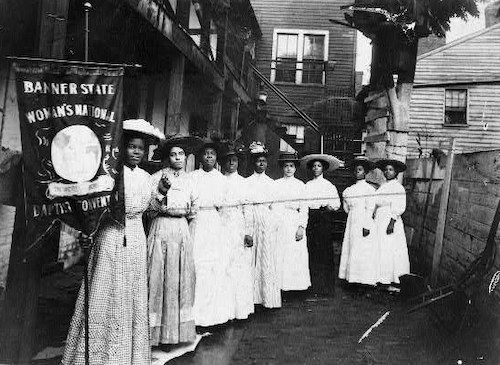 Black women in the suffrage movement (Courtesy of NPS)