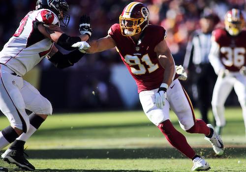 Washington Redskins linebacker Ryan Kerrigan is looking to finish his career in D.C. (Daniel Kucin Jr./The Washington Informer)