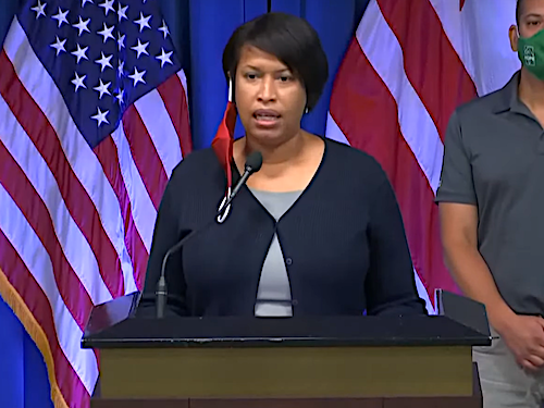 D.C. Mayor Muriel Bowser speaks during a June 22 press conference to announce that the city will enter phase two of its reopening plan amid the coronavirus pandemic.