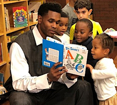 Former NFL wide receiver Darnerian McCants takes what he learned as an HBCU athlete at Delaware State who played pro football and pushes his literacy program by reading online to elementary school children every Thursday through his Finding Me Foundation. (Courtesy of Darnerian McCants)