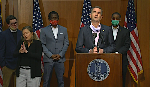 Virginia Gov. Ralph Northam speaks during a June 4 press conference to announce plans to remove a state of Confederate statue of Robert E. Lee in Richmond.