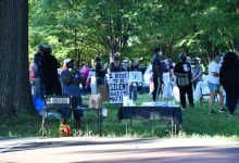 Cheverly 4th Ward Civic Association hosts a community rally at Boyd Park June 6 to honor George Floyd and other Blacks killed by police. (Anthony Tilghman/The Washington Informer)