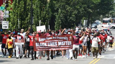 Photo of Kappa Alpha Psi Leads March for Black Lives