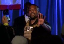 Photo of Kanye West First Campaign Rally