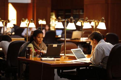 **FILE** University of Virginia School of Law's library (Mmw3v via Wikimedia Commons)