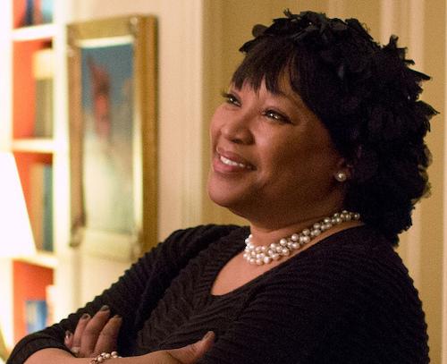 **FILE** Zindzi Mandela (Official White House photo by Pete Souza)