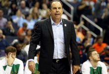Notre Dame head coach Mike Brey (pictured) and Howard head coach Kenneth Blakeney, fellow DeMatha Catholic High School alums, will reunite on MLK Day 2021 when their teams square off for the first time at Burr Gymnasium. (Daniel Kucin Jr./The Washington Informer)