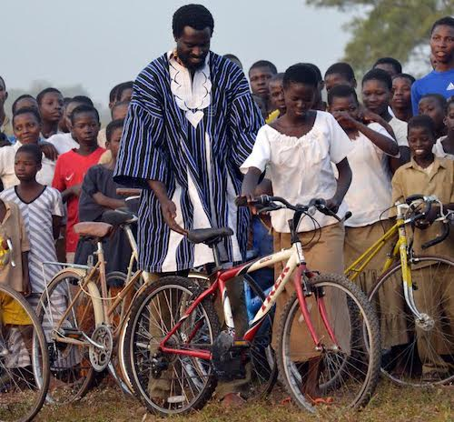 Olowo-n'djo Tchala has distributed nearly 10,000 bicycles to young women in Togo to help decrease dropout rate in grade school. (Courtesy photo)