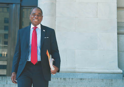 Former D.C. Council member Vincent Orange has declared his candidacy for an at-large council seat in the November 3 general election. (WI file photo)