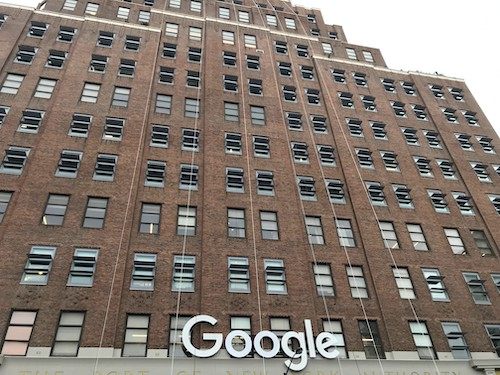 The Google building in New York City (Donatingpictures via Wikimedia Commons)
