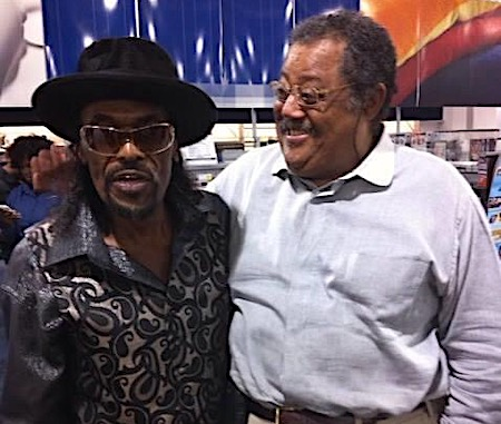 """The Godfather of Go-Go"" Chuck Brown (left) and Kenny Barnes Sr., ""The Father of Friday Night Go-Go"""