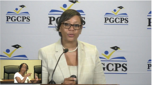 Prince George's County Public Schools CEO Monica Goldson announces on July 15 that no in-person education will be offered for the 2020-21 school year between Aug. 31 and Jan. 29.
