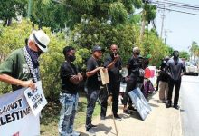 Photo of Barbados Demonstrators Show Solidarity with Black Lives Matter Movement