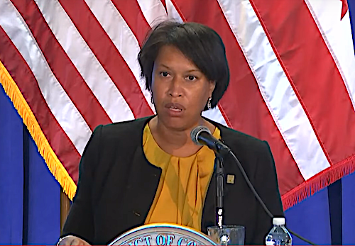D.C. Mayor Muriel Bowser speaks during a July 30 press conference on the city's response to the coronavirus pandemic.