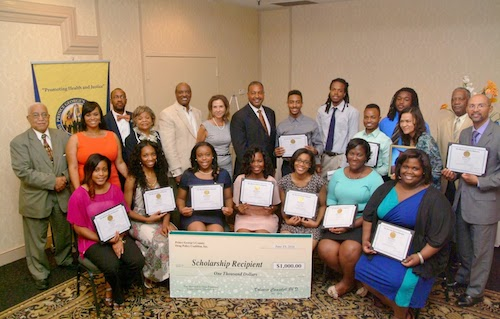 Previous winners of the Empowering Future Leaders Scholarship (Courtesy of Prince George's County Drug Policy Coalition)
