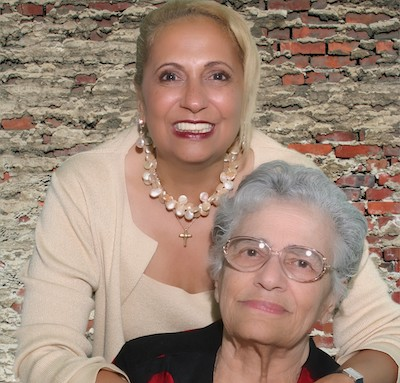 Helen Jones Woods with daughter Cathy Hughes (Courtesy photo)
