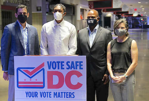 The D.C. Board of Elections and Monumental Sports unveiled the Capital One Arena as an early voting location supercenter for District of Columbia residents. (Courtesy of nba.com)