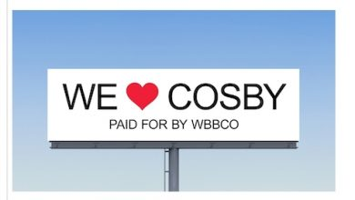 Photo of Cosby Supporters Show Love with Massive Billboard