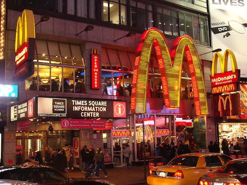 **FILE** A McDonald's storefront in New York City's Times Square (Courtesy of Wikimedia Commons)