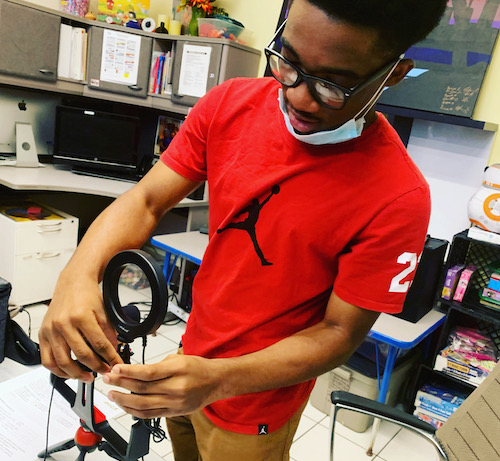 Daniel Coffy, 17, successfully maneuvered the changes he faced during URGENT, Inc.'s summer internship program because of COVID-19 and a new mode of instruction — virtual learning. (Courtesy of URGENT, Inc.)