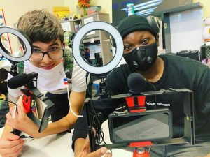 These students, all cohorts assigned to the digital media track in URGENT, Inc.'s summer internship program, discovered that learning, while sometimes challenging, can still be fun despite being conducted virtually. (Courtesy of URGENT, Inc.)