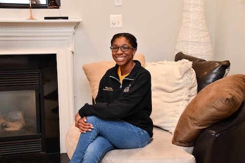 Ninah Jackson, a senior who attends Oxon Hill High School, poses at her home Sept. 24. (Anthony Tilghman/The Washington Informer)