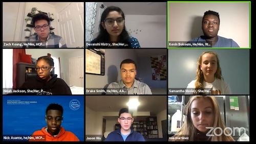 High school student leaders discuss a myriad of topics during a virtual town hall on Sept. 25.
