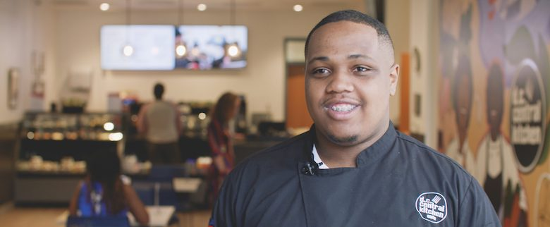 Marshall Wynn is a graduate of the first cohort of DC Central Kitchen's culinary job training program focusing on young adults. (Courtesy of stories.wf.com)