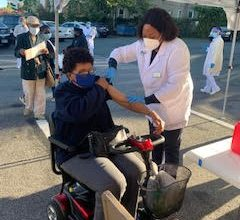 Participant receiving the flu shot in Prince George's County. (Courtesy photo)