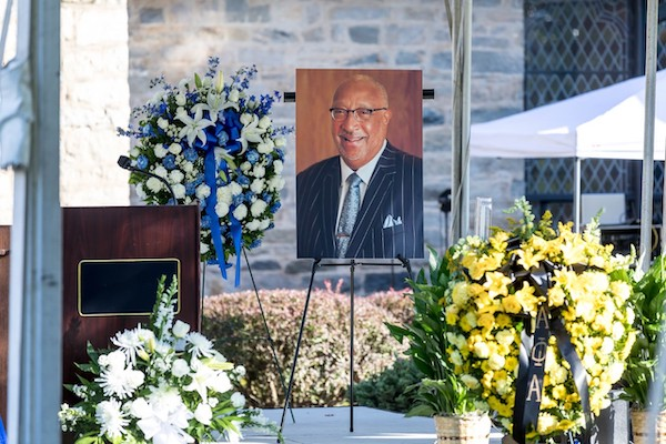 Saint Augustine's University holds a memorial service for school President Irving Pressley McPhail, who died Oct. 14 of coronavirus-related complications. (Courtesy of st-aug.edu)