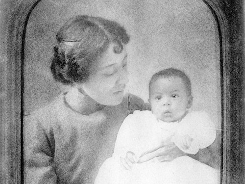 Carrie Mercer Langston was a writer at the center of progressive clubs in Kansas who encouraged women's participation in politics and journalism. She was also the mother of famed Kansas poet Langston Hughes, shown here as a baby in 1902. (Courtesy of Beinecke Rare Book and Manuscript Library, Yale University)