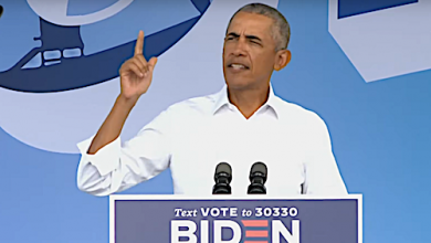 Photo of Obama Blasts Trump in Drive-In Rallies Supporting Biden's Run for the White House